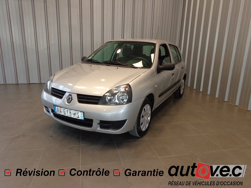 Renault CLIO CAMPUS 1.2 58CH GPL AUTHENTIQUE 5P / CLIO CAMPUS II (B/C65) / PH3 ESS+G.P.L. GRIS C Occasion à vendre