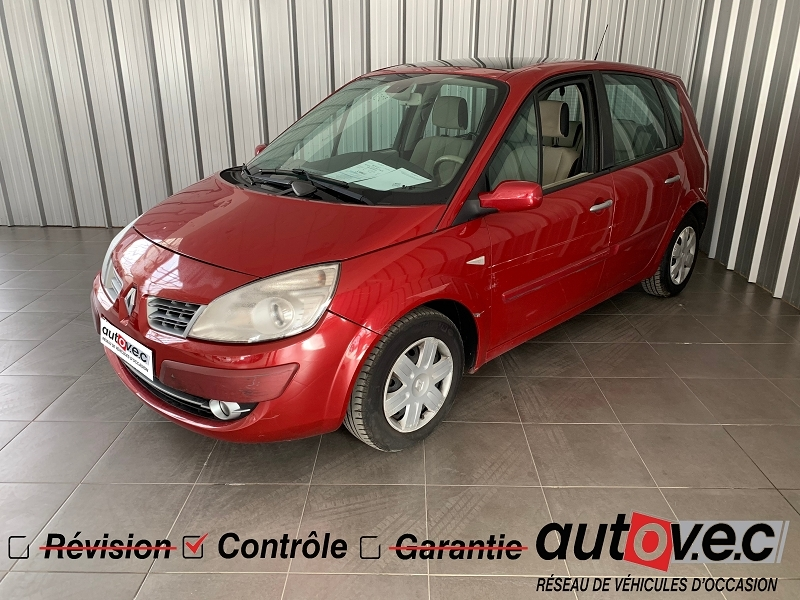 Renault SCENIC II 1.6 16V 110CH EXCEPTION Essence ROUGE Occasion à vendre